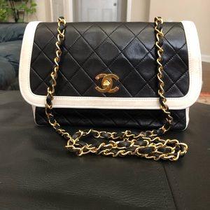 Chanel Classic Vintage Two Tone Flap Bag